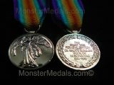 MINIATURE WW1 INTER ALLIED VICTORY MEDAL SOUTH AFRICA